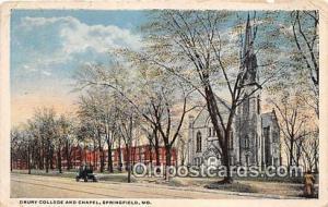 College Vintage Postcard Springfield, MO, USA College Vintage Postcard Drury ...