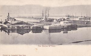 SUEZ , EGYPT , 1890s : Ships at Docks
