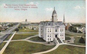 Oregon Salem Court House-City Hall Post Office & M E Church sk4110
