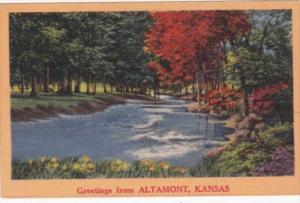 Kansas Greetings From Altamont Landscape Scene