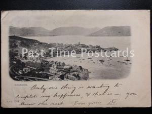 c1901 - Gourock, A Love Note to Miss Forrest, Peelis Hotel, Fleet St. QV Stamp