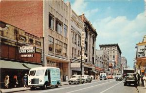 Louisville Kentucky~Fourth Street N~Spaldings Delivery Van~Stores~Theatre~50s Pc