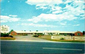 Vtg Tremont Motor Court Motel New Castle Delaware DE Chrome Postcard