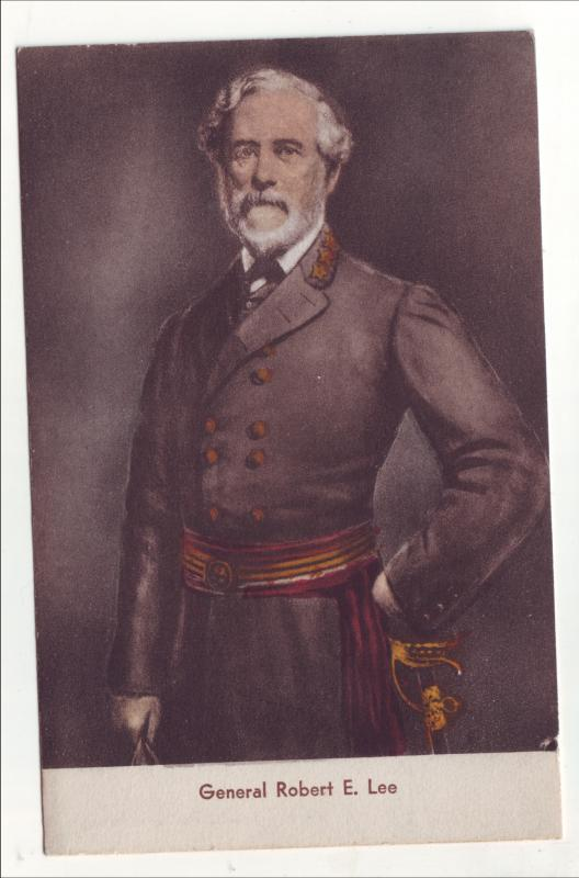 P493 JLs vintage handcolored general robert e lee with sword