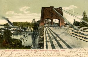 MA - Newburyport. Steamer Merrimack at the Chain Bridge