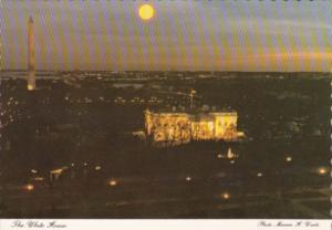 Washington D C The White House & Washington Monument At Night