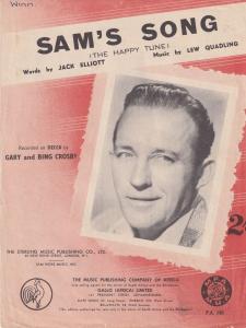 Sams Song Bing Crosby Rare South African 1960s Sheet Music