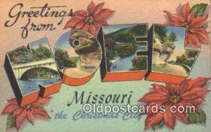 Noel, Missouri, USA Large Letter Town Unused