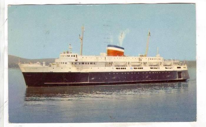 Car Ferry BLUENOSE , Yarmouth , Nova Scotia , Canada , PU-1956