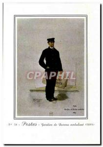 Postcard Modern Post railway post office Guard (1889)