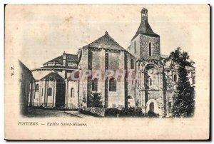 Old Postcard Poitiers Church of Saint Hilaire