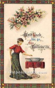 Halloween Postcard Old Vintage Post Card Gottschalk, Dreyfuss & Davis Series ...