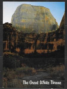 Zion Park Utah, The Great White Throne, unused.