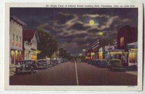 P637 JLs old card old cars night view liberty st. vermilion ohio on lake erie