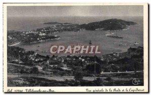 Old Postcard Villefranche Sur Mer Vue Generale of the Bay and Cap Ferrat Charter