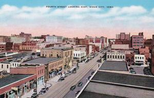 Iowa Sioux City Fourth Street Looking East