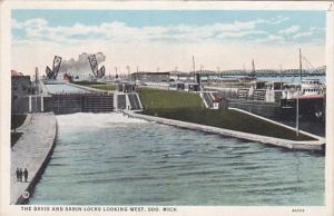 SOO, Michigan, 1900-1910's; The Davis And Sabin Locks Looking West