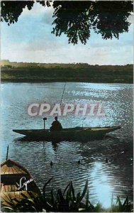 Postcard Modern Coin Tranquille Fishing Boat Fisherman's Boat