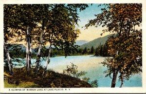 New York Lake Placid Glimpse Of Mirror Lake