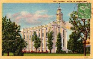 Utah St George Mormon Temple Curteich
