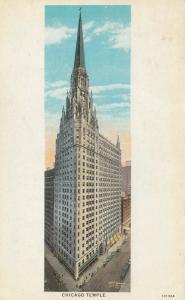 CHICAGO, Illinois, 1910s; Chicago Temple, First Methodist Episcopal Church