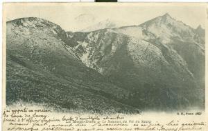 Le Mont Dore, Le Sommet du Pic du Saucy, 1904 used Postcard