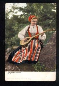 041120 Swedish girl Musician w/ native mandolin Old
