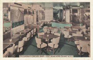 NEW YORK CITY, 1930s; Piccadilly Circus Bar, 227 West 45th Stree
