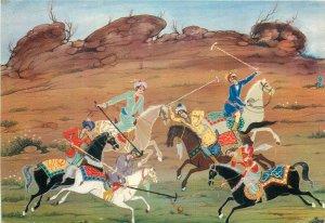 Miniyator Iran Horses Polo sport postcard