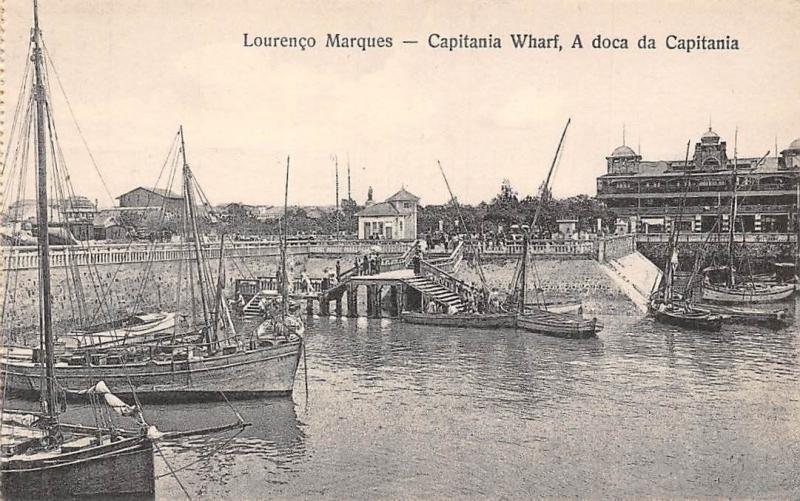Mozambique Mozambic Maputo, Lourenco Marques Capitain Wharf, A doca da Capitania