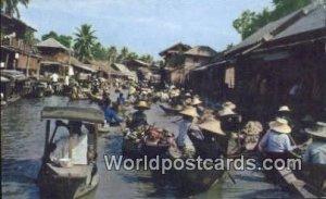Floating Market Dhonburi Thailand Unused