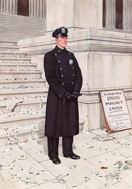 Postcard New York City Police Department Police Officer NYMPF 1929 #19-4