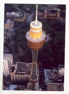 Night shot of Sydney Tower, Sydney, Australia, 60-70s