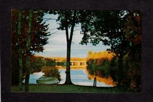 ME Seboeis Stream Campground Camp Ground Camping Howland Maine Postcard
