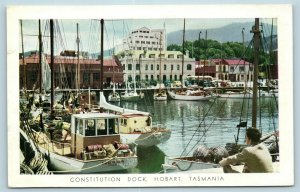 Postcard Tasmania Hobart Constitution Dock Dear Doctor Sodium Pentothal 1958 AD6