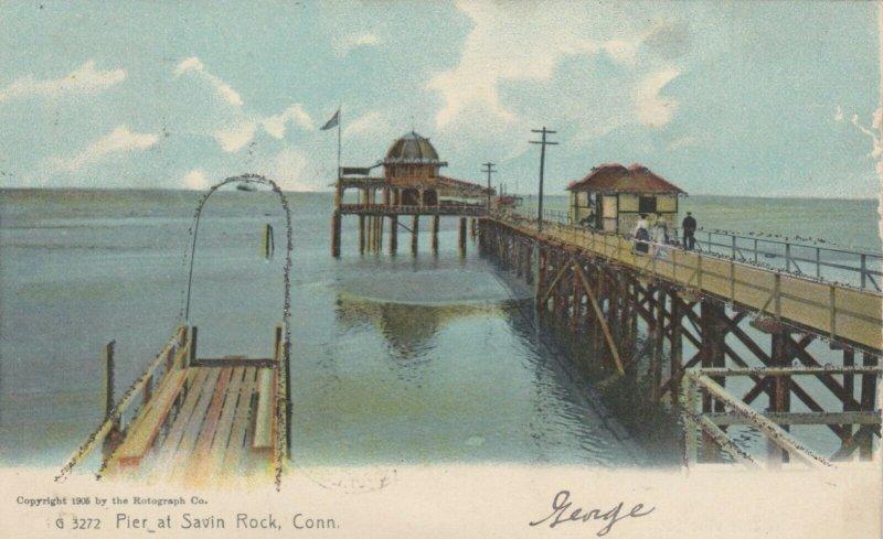 SAVIN ROCK , Connecticut , 1906 ; Pier