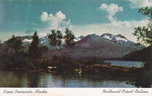 Kenai Peninsula, Northwest Orient Airlines, ALASKA, 40-60s