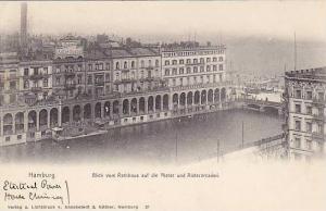 Blick Vom Rathaus Auf Die Aister Und Alsterarcaderi, Hamburg, Germany, 1900-1...
