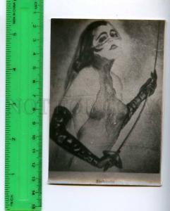 213207 Fechterin semi-nude girl russian photo miniature card