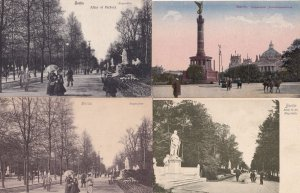 Berlin Siegessäule Of 4x Victory Monument Statue Alley Old Postcard s