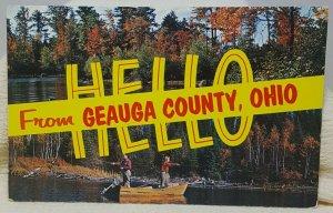 Geauga County Ohio Vintage Postcard