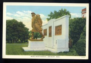 Amesbury, Massachusetts/MA/Mass Postcard, World War Memorial