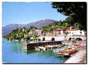 Modern Postcard Ascona Lago Maggiore Canton Ticino Panorama