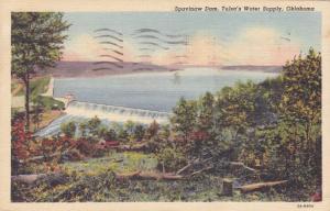 Spavinaw Dam - Tulsa's Water Supply - Oklahoma - pm 1947 - Linen