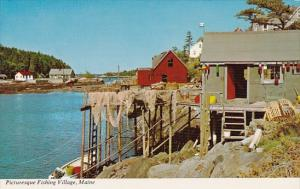 Maine Picturesque Fishing Village