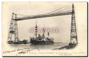 Old Postcard Boat War Admiral L Passage Duperre under the Transporter Tunisia