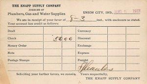 The Knapp supply company Union City, Indiana, USA Postal Cards, Late 1800's 1...