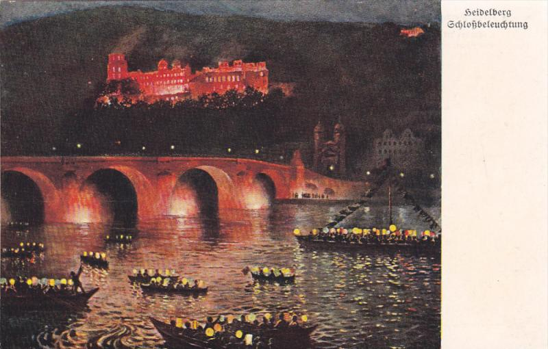 AS: F. Buth; HEIDELBERG, Baden-Warttemberg, Germany; Echlochbeleuchtung, 00-10s