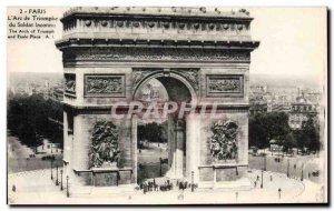 Paris - 8 - L & # Triumph 39Arc - Old Postcard