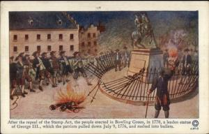 1914 New York History Tercentenary Postcard #9 REPEAL OF THE STAMP ACT